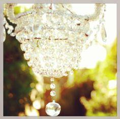 a garden chandelier #LCLaurenConrad