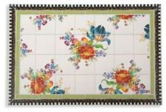 MacKenzie-Childs Flower Market Floor Mat- #ad-#rug From the Flower Market Collection. Made of durable, slip-resistant vinyl and dressed up in a lush floral pattern, this floor mat is equal parts workhorse and show pony. Indoor and outdoor use.2'W x 3'L.Vinyl. Wipe clean. Made in USA. Please note: Pieces will vary due to the handmade nature of each product.