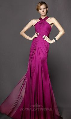 29bd4e584c8c Pink Full Length Cross Strap A-line Formal Dresses with Nature Waist  PLFD272 in Palamino