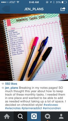 Organization tips and info about Erin Condrin planners