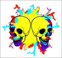 Pop Art Skull Burst Vinyl Decal Sticker in The Vain of Warlhol and The Vinyl Art, Vinyl Decals, Pop Art, Mythology, Skull, Fantasy, Stickers, Modern, Ebay
