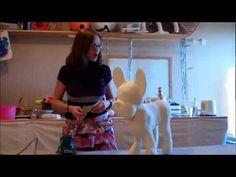 How 2 Make A French Bulldog Sculpture With Paper Mache
