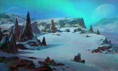ArtStation - Ice world 3, Alexander Forssberg