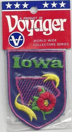 Souvenir Tourist Patch State of Iowa | eBay