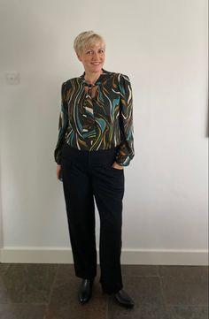 Love my new top in @ecofashionfabrics Bow Tie Shirt, Tied Shirt, Gorgeous Fabrics, Viscose Fabric, Fashion Fabric, Workout Tops, Silk, Stylish, Sleeves