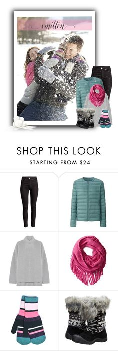 """""""Snow Ball Fight"""" by colierollers ❤ liked on Polyvore featuring Uniqlo, Rochas, San Diego Hat Co., Quinton-Chadwick and Muk Luks"""
