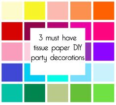 Tissue paper DIY decorations - pin now read later.
