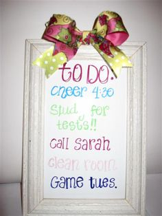 framed dry erase board Sister Crafts, Dry Erase Board, New Job, Homeschool, Boards, Bible, Craft Ideas, Diy Crafts, Quote