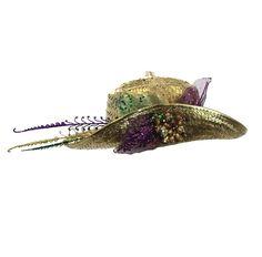 Straw hatPurple, green & gold design One Size with adjustable neck strap Mardi Gras Hats, Green And Gold, Captain Hat, Fashion, Moda, Fashion Styles, Fashion Illustrations
