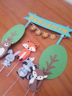 Wild One Birthday Party, Baby Party, 1st Birthday Parties, Baby Crafts, Diy And Crafts, Paper Crafts, Baby Shower Winter, Baby Boy Shower, Woodland Party