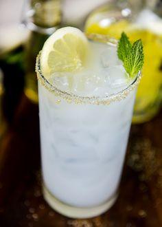 Lemon-Infused Ouzo Mint Spritzer | Cava Grill on Tumblr