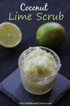 This coconut lime scrub can be used on your hands or you can use it for a full body scrub. It smells delicious and will make your skin look perfect.