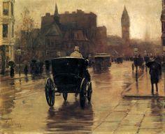 Childe Hassam (American, Impressionism, 1859-1935):