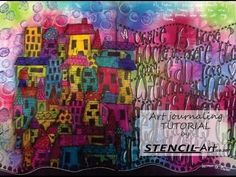 Art Journal Page using Dylusions Products. - YouTube