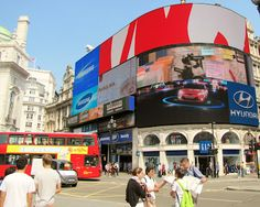 Piccadilly Circus in London's West End.