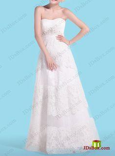 H1468 Informal empire A line lace wedding dress