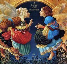 James Christensen  Two Angels Discussing Botticeili