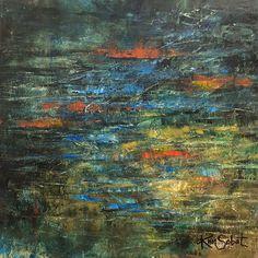 """Koi Pond"" by Kim Sobat - oil/cold wax on board"