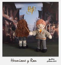 #amigurumi Harry Potter Ron, Hermione