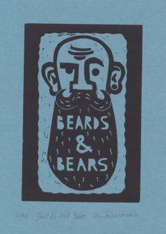 Gravures & Estampes | Philippe Achermann | Beards and Bears | Tirage d'art en série limitée sur L'oeil ouvert Street Art, Philippe, Art Graphique, Bear, Artwork, Contemporary Photography, Old Photography, Etchings, Prints