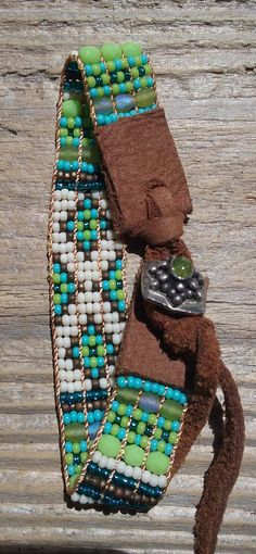 Hand Loomed Japanese seed & Czech GlassBead Woven by Adornments925
