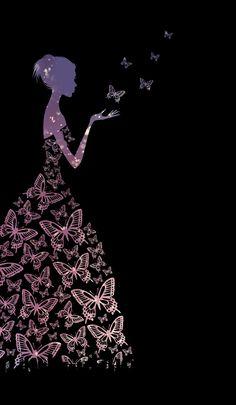 A girl made up of butterflies. Happy Wallpaper, Emoji Wallpaper, Heart Wallpaper, Cellphone Wallpaper, Girl Wallpaper, Phone Screen Wallpaper, Disney Wallpaper, Galaxy Wallpaper, Pretty Phone Wallpaper
