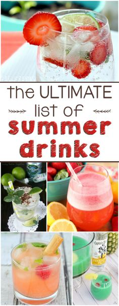 Nice drinks to try during hot season