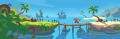 Here is the first little concept for the game I'm trying to make this year.It should be a Scrolling Fighter in 2D. A fisherman trying to catch the Pirate that transform the water of the bay i...