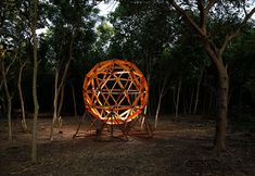 Our dream backyard project involves this kit to build your own geodesic sphere treehouse.