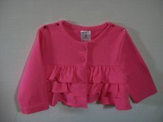 Carter's Infant Girls Size 3 Months Pink Top Everyday Long Sleeve 100% Cotton