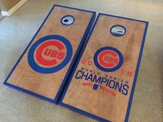 Chicago Cubs Cornhole Boards Custom Made