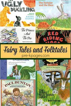 Preschool Books with Fairy Tales and Folktales - Pre-K Pages Preschool Literacy, Preschool Books, Kindergarten Classroom, Preschool Programs, Preschool Themes, Classroom Ideas, Fairy Tales Unit, Fairy Tales For Kids, List Of Fairy Tales
