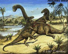 Jurassic dinosaurs - Camarasaurus & Allosaurus