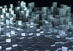 Abstract 3d rendering of metal surface by _SoNa_ Abstract 3d rendering of metal surface with hexagons. Sci-fi background. Render in JPG format.