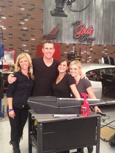 """Velocity channel's """"All Girls Garage"""", starring Jessi, Bogi and Cristy. These three ladies really know their car stuff! Sully, Car Stuff, Hair Inspiration, Discovery, Weird, Tv Shows, Garage, Actresses, My Style"""