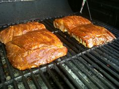 Brown sugar bourbon ribs, threw the recipe together myself and created ...