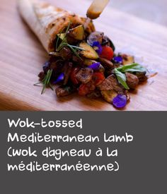 Wok-tossed Mediterranean lamb (wok d'agneau à la méditerranéenne) | Combining French flavours and Asian cooking techniques, this recipe for wok-tossed lamb with carrots and vegetables is super simple and super delicious. Whole lamb rump is perfect for slow-roasting, but sliced and marinated, it's also great to quickly stir-fry.