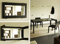 What I like: Folding Dining Table Turns into a Mirror, by Porada