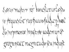 Merovingian script  mid 8th century Calligraphy Logo, Lettering, Graphic Design Invitation, Merovingian, Logo Branding, Logos, Auld Lang Syne, Dark Ages, Handwriting