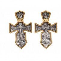 Krzyż ze srebra próby 925 z złota