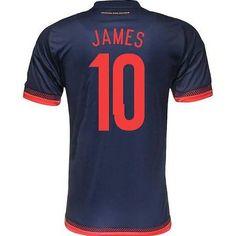 86120db34 2015 Colombia Soccer Team Away Navy Falcao Jersey