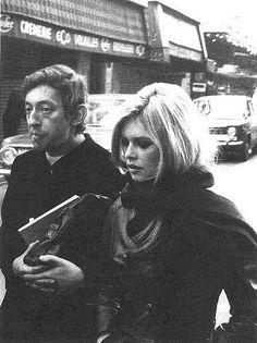 Brigitte Bardot and mildly famous boyfriend.