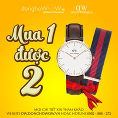 Đồng hồ Daniel Wellington: mua 1 được 2 - Đồng Hồ WOW.VN