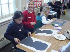 Colonial Craft Day - Silhouettes - Germantown Academy 3rd Grade Colonial Study