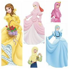 Disney princesses in hijab <3