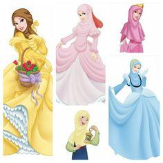 Disney princesses in hijab <3