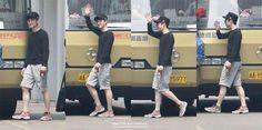 baby with specs is waving to camera hahaha Chansoo, Exo Do, Do Kyung Soo, Kyungsoo, Specs, Christian, Magazine, Baby, Penguin