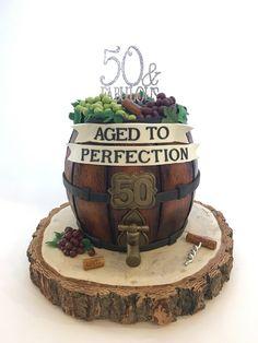 Wine Barrel 50th Birthday Cake