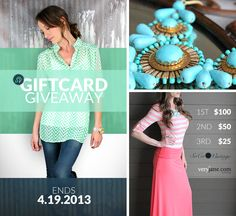 Giftcard Giveaway from Very Jane and SoCo Vintage