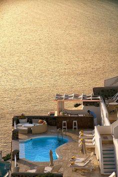 Golden Sea - Imerovigli, Santorini, Greeceby Manolis Tsantakis